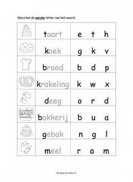 Kinderen Culturen Kleurplaten Werkbladen Taal Bakker Juf Milou