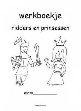 Werkboekjes ridders en prinsessen juf milou for Werkbladen ridders en kastelen