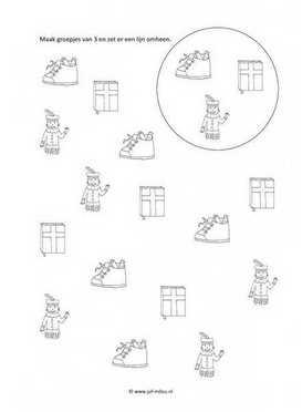 Kinderen Culturen Kleurplaten Werkbladen Rekenen Sinterklaas Juf Milou
