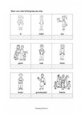Werkbladen Taal Mensen Familie Juf Milou