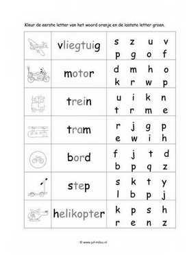 Beroemd Werkbladen taal - verkeer ~ Juf Milou #FN15