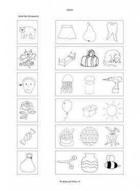 Extreem Rijmwerkbladen - werkbladen - taal ~ Juf Milou #DO38