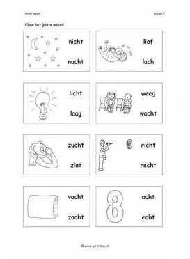 Wonderlijk Leren lezen met de letter CH - werkbladen ~ Juf Milou HC-56