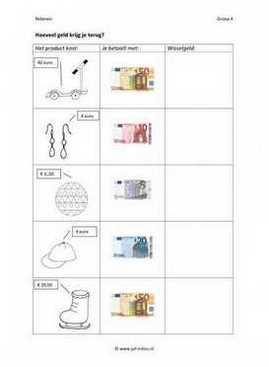 Werkbladen wiskunde