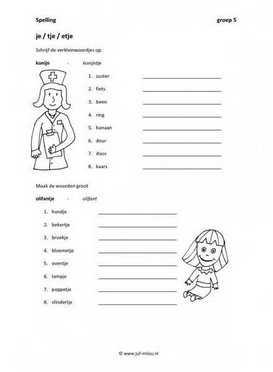 Werkbladen spelling verkleinwoorden juf milou for Werkbladen spelling groep 4