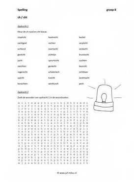 Werkwoordspelling groep 8 werkbladen